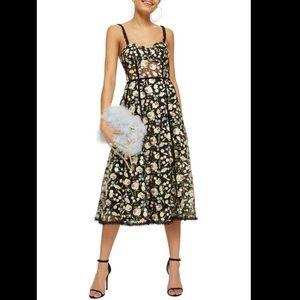 Top shop floral corset midi dress
